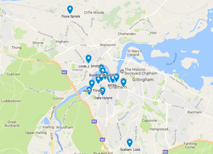 Map of festival locations across Medway